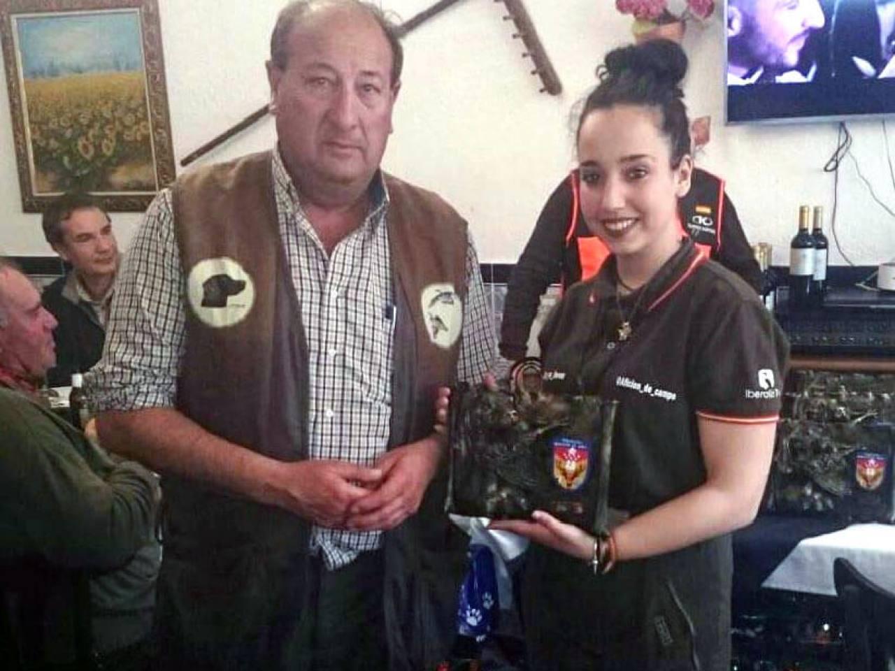 Dª  Raquel del Amo Huerta, Campeona Autonómica de San Huberto categoría mujer 2018