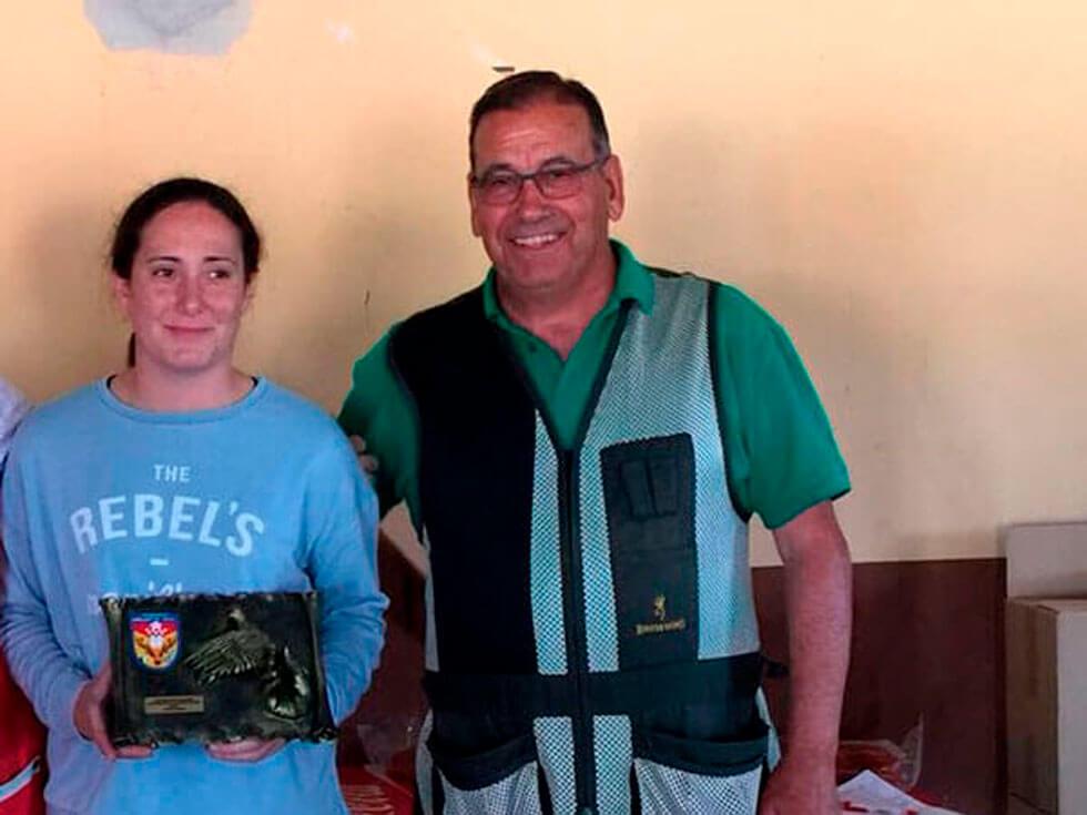 Dª Amelia Sevilla Moral Campeona Autonómica,  Categoría Femenina.