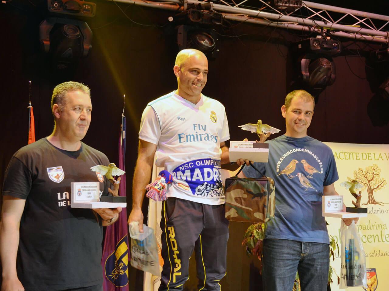 Campeonato España Cante 2018 podium Verderón