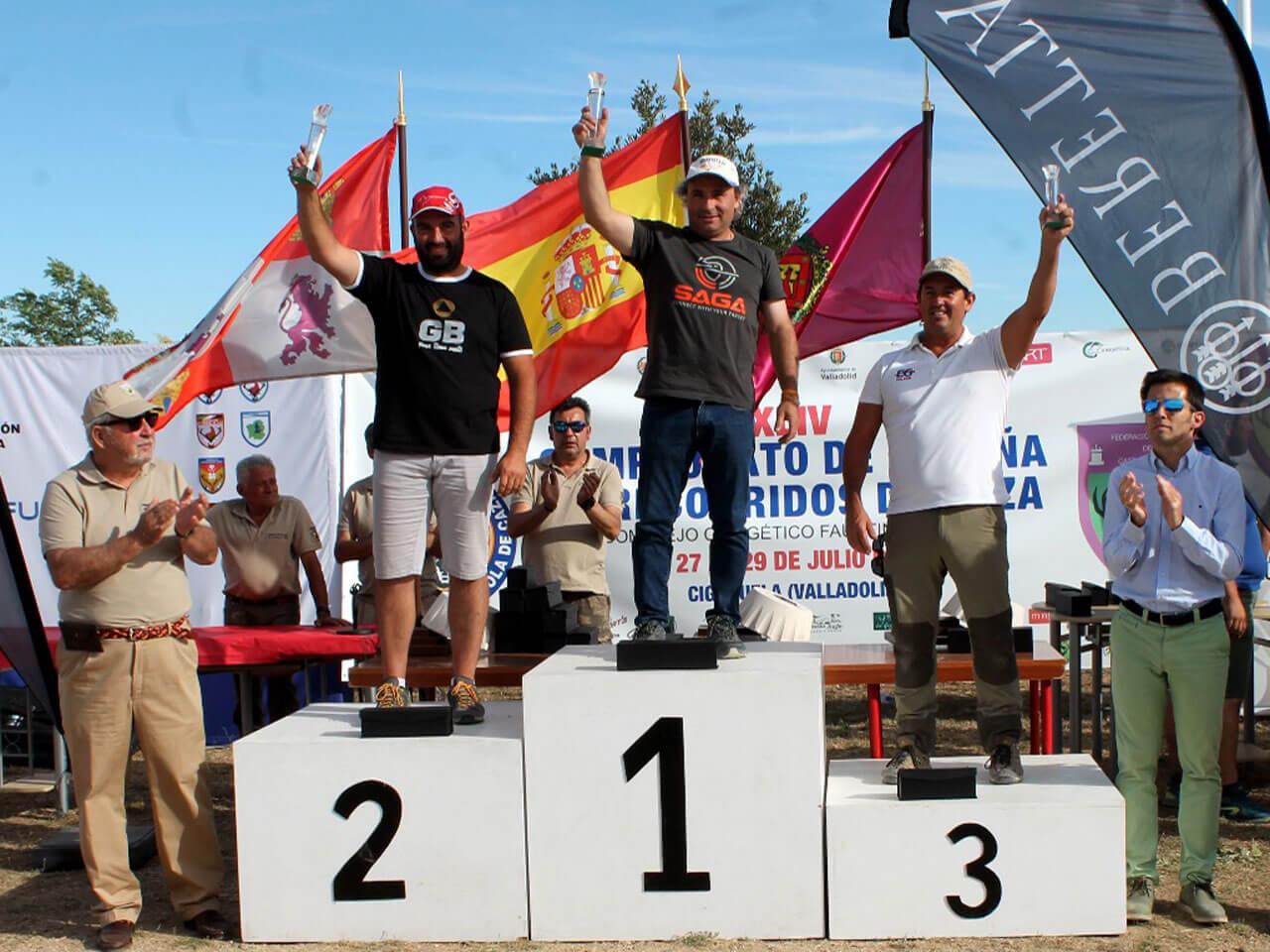 Podium Hombres Campeonato de España Recorridos de Caza 2018