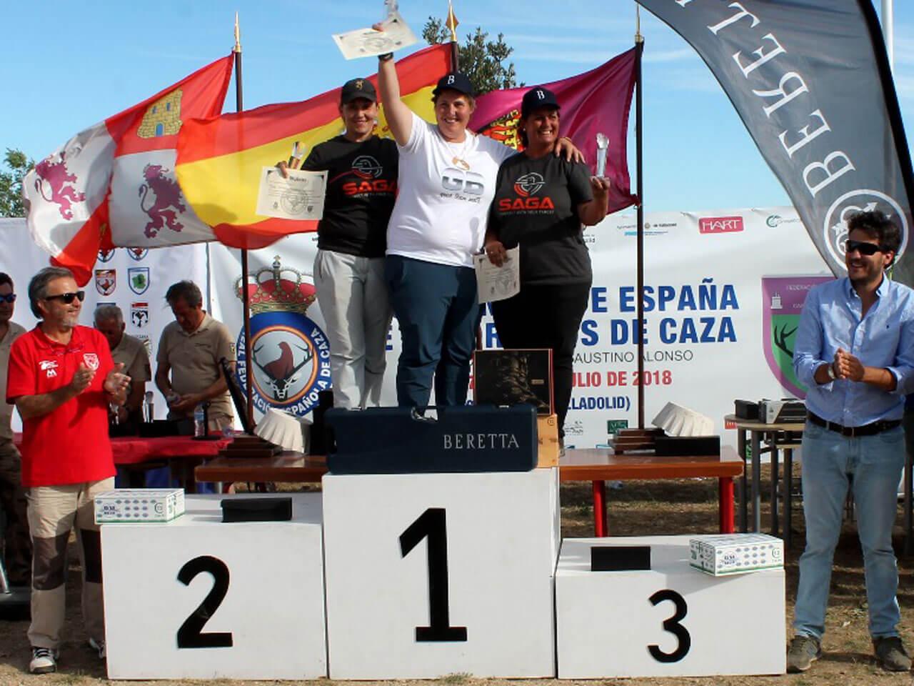 Podium Mujeres Campeonato de España Recorridos de Caza 2018