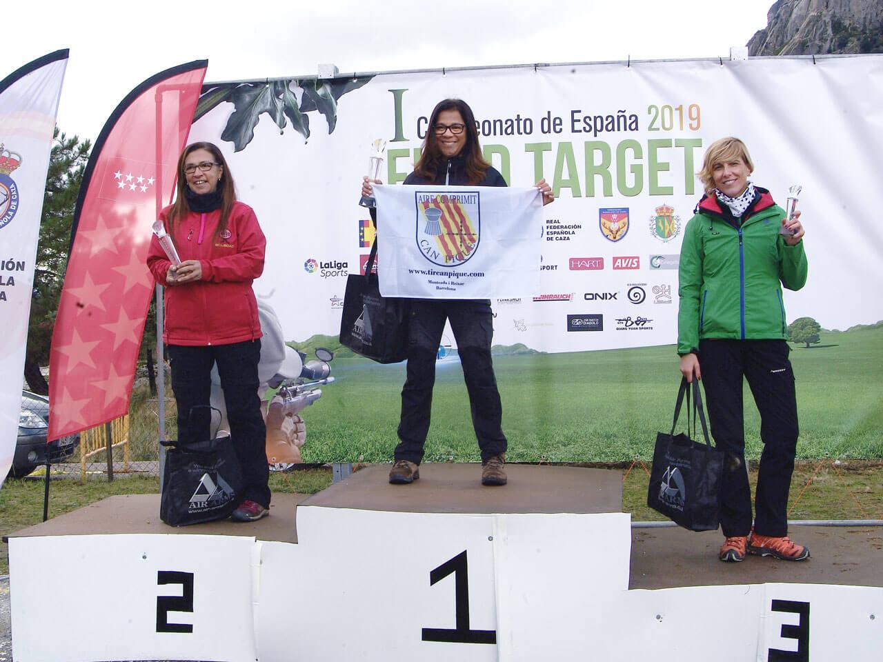 Campeonato de España Field Target 2019 - Podium Damas