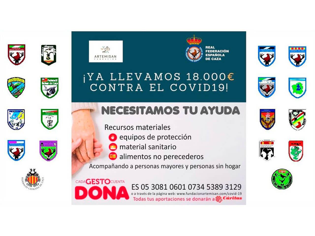 Las Federaciones de Caza y Artemisan donan 18.000 €