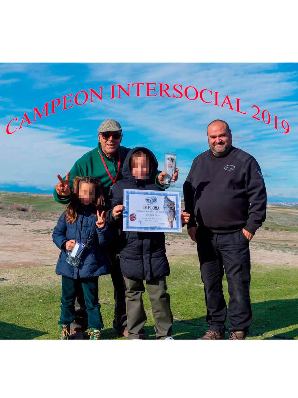 Campeonato Intersocial Bajo Vuelo 2019 - Campeon ANTONIO MARTíNEZ-JIMÉNEZ