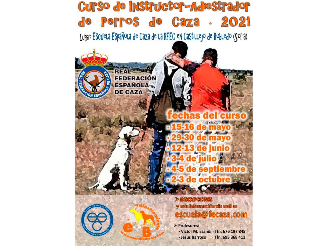Nuevo curso de instructor-adiestrador de perros de caza de la Escuela Española de Caza